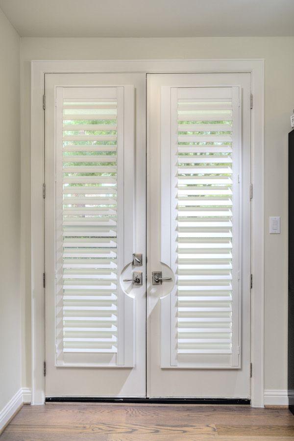 Hidden tilt on shutters on french doors from Rockwood ...