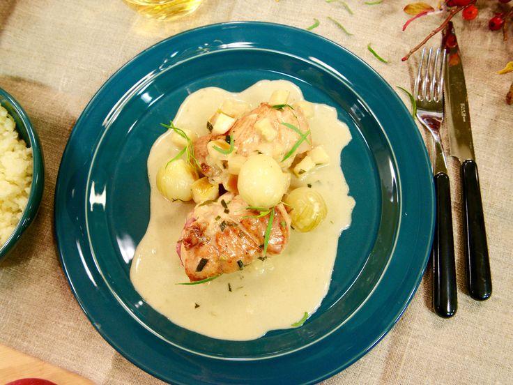 Kycklingrullader med cidersås och pressad potatis | Recept.nu