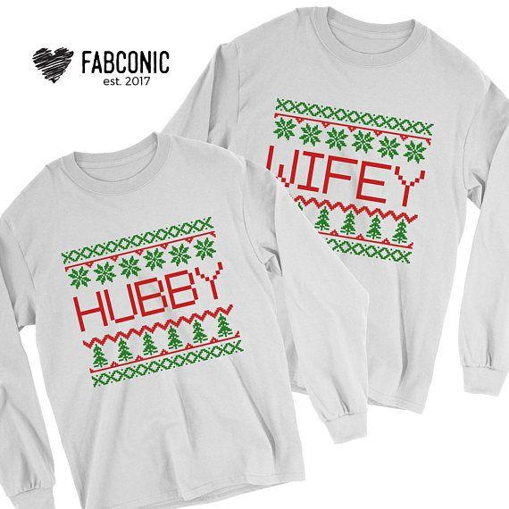 Ugly Christmas Sweater Christmas Sweater Hubby Wifey