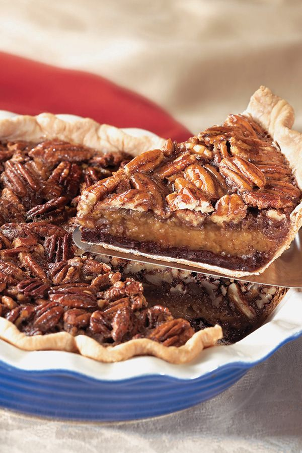 Try this twist on the classic pecan pie for a memorable holiday dessert. The extra layer of rich chocolate is sure to be a crowd-pleaser.