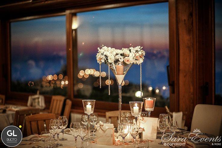 Wedding centerpiece by Sara Events