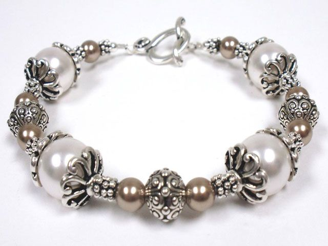 Pearl Cap Bracelet Kit This Is A Kit, Not Free Pattern, But So Pretty!