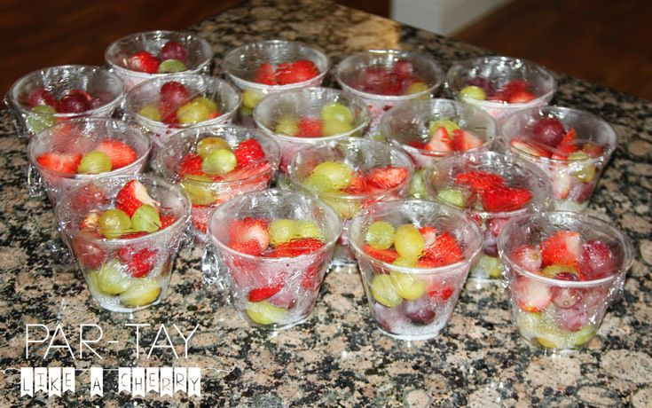 soccer team snack fruit cups