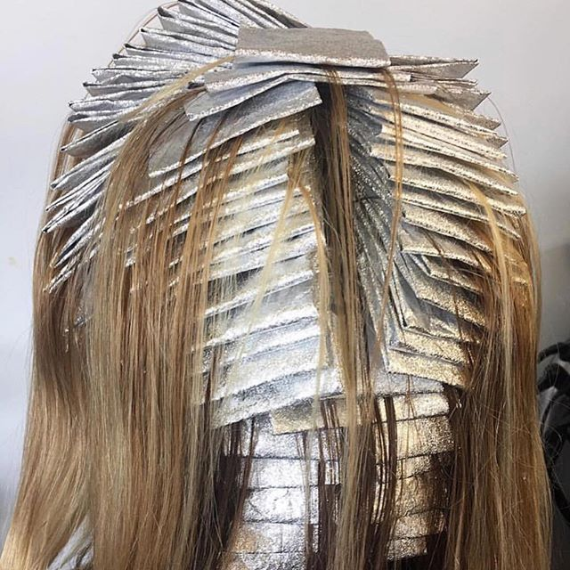 WEBSTA @ phildoeshair - Pure foil bliss @ameliahairmakeup this always makes me smile, because I LOVE foiling!