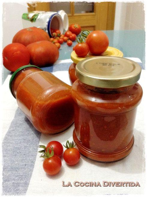 Salsa de tomate casera y una manera para conservarla