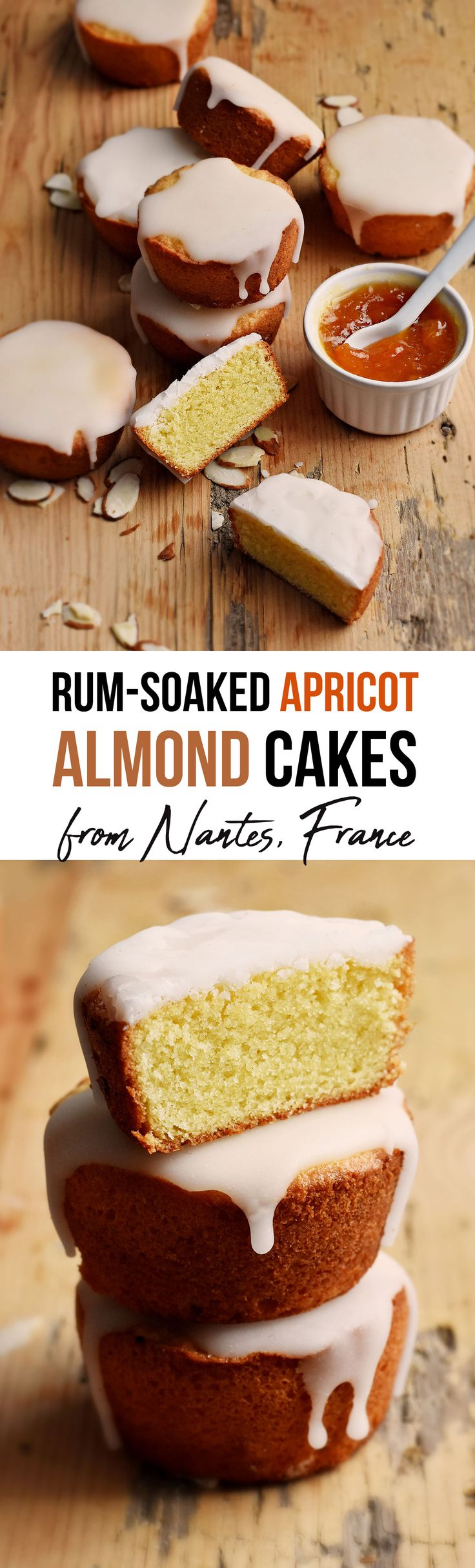 """""""Gateau Nantais"""" - A densely satisfying almond cake with apricot jam, soaked in rum and then cloaked under a signature white icing , a delicious treat!"""