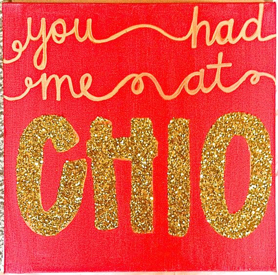 Chi Omega Painting  You Had Me At Chi O. by ginnijones on Etsy, $17.00