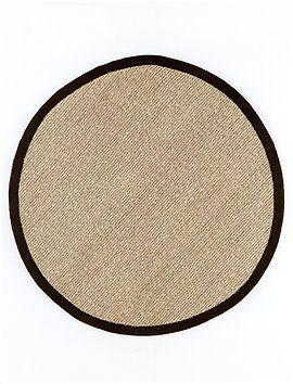 Beautiful Teppich Seegras mit Baumwolleinfassung Durchmesser cm uac bei CAR M bel