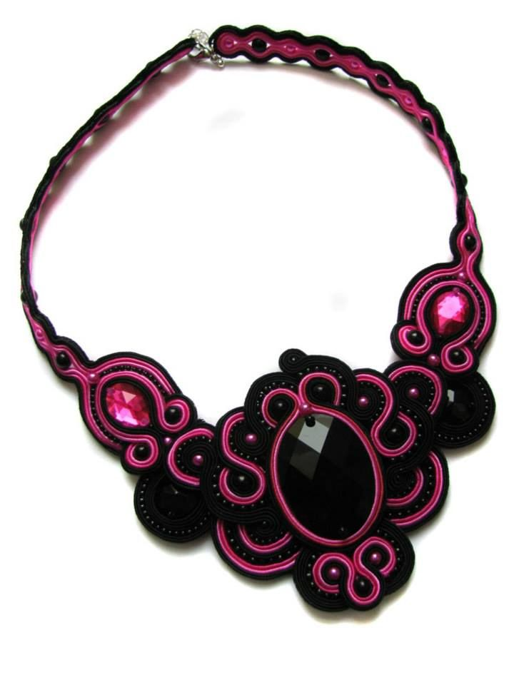 Necklace DANCE soutache by GosiaBizu