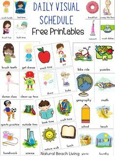 Extra Daily Visual Schedule Cards Free Printables Training Kids Schedule Visual Schedules