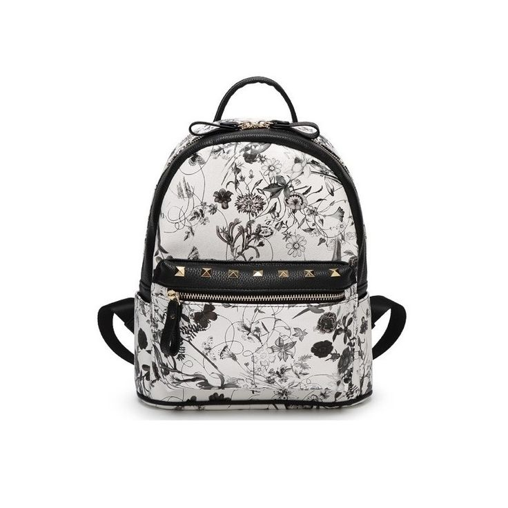 Print flower bag women's backpack female rusksack, Factory Price, Worldwide Free Shipping!