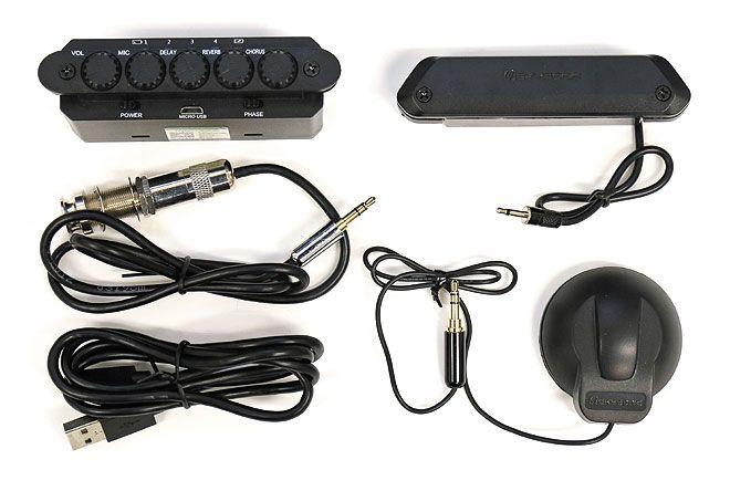 アコギの生音にエフェクトがかけられる エフェクト付きサウンドホール ピックアップ R2 Resonance Pickup Barks 付き ギター ピックアップ ピックアップ