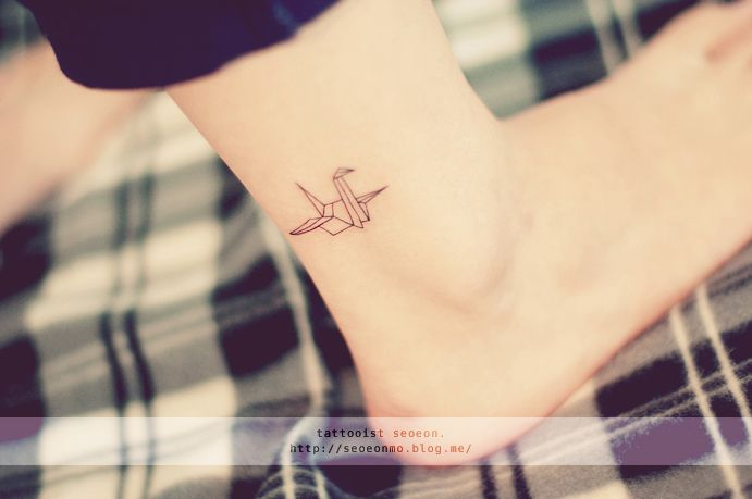 Guys... Am I starting to think about tattoos?  Origami crane tat