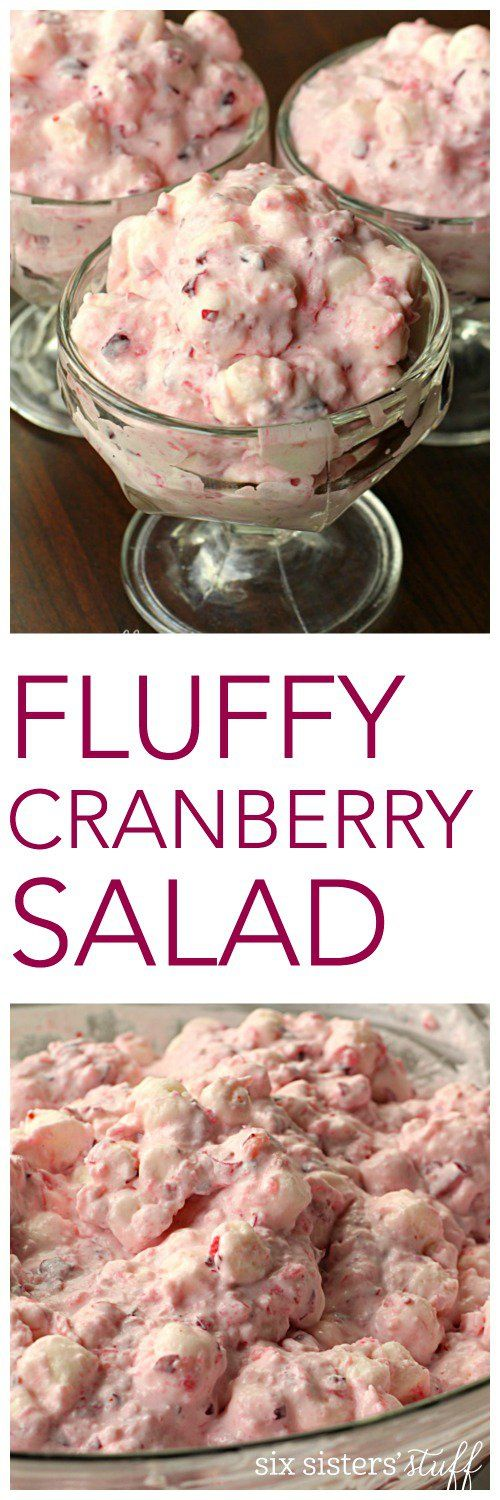 Fluffy Cranberry Salad on SixSistersStuff.com - this salad is delicious!  http://www.sixsistersstuff.com/2016/12/fluffy-cranberry-salad.html?utm_source=feedburner&utm_medium=email&utm_campaign=Feed%3A+sixsistersstuff%2FTUsn+%28Six+Sisters%27+Stuff%29