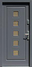 Drzwi zewnętrzne drewniane wzór 682 w kolorze antracyt