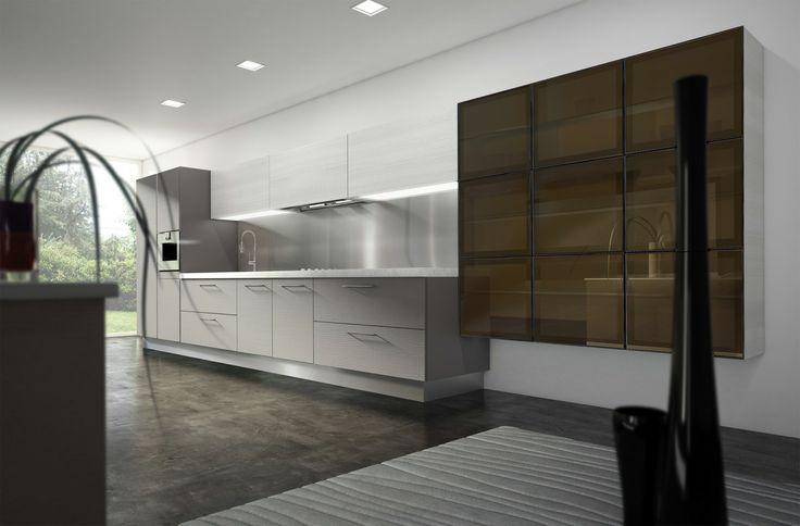 Μοντέλο Erice Μελαμίνη ανοικτού πόρου, με οριζόντια νερά ξύλου. Διατίθεται & με οριζόντιο - κάθετο αποστάτη για άνοιγμα πόρτας χωρίς πόμολο. Πάχος πόρτας 20 χιλιοστά.