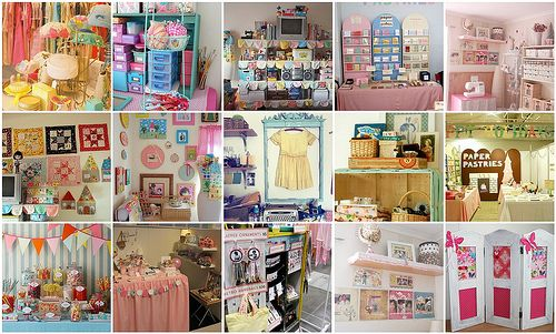 Lots of fabulous Shabby Chic craft booth ideas!!