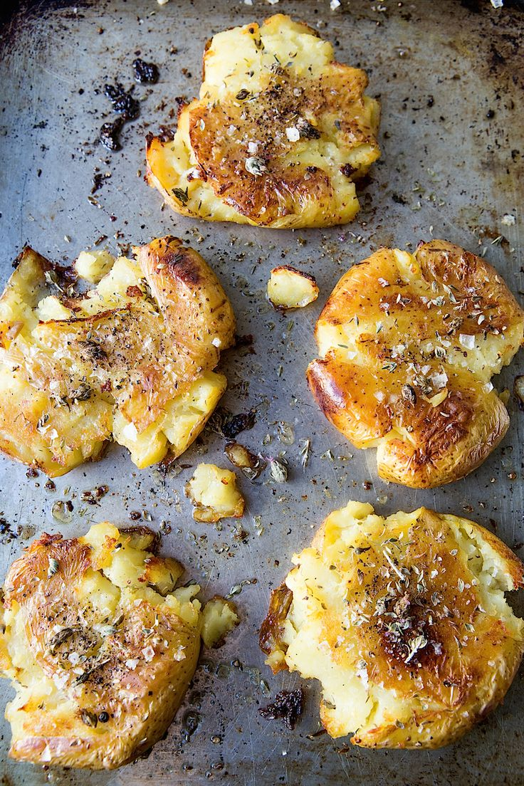 Duck Fat Smashed Roasted Potatoes - Chez Us