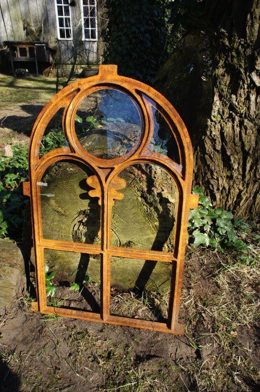 Eisenfenster, Stallfenster Kirchenfenster Rundbogen, Fenster für Gartenmauer kaufen bei Hood.de