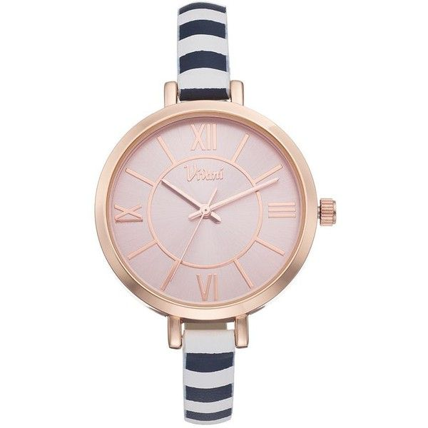 Vivani Women's Striped Watch (45.630 COP) ❤ liked on Polyvore featuring jewelry, watches, multicolor, buckle watches, stainless steel jewellery, buckle jewelry, unisex jewelry and colorful jewelry