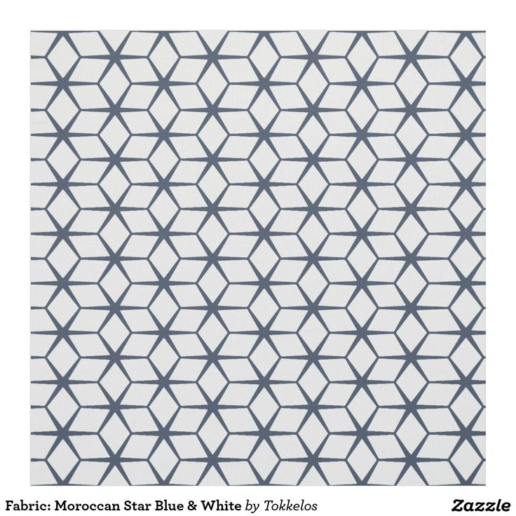 Fabric: Moroccan Star Blue & White