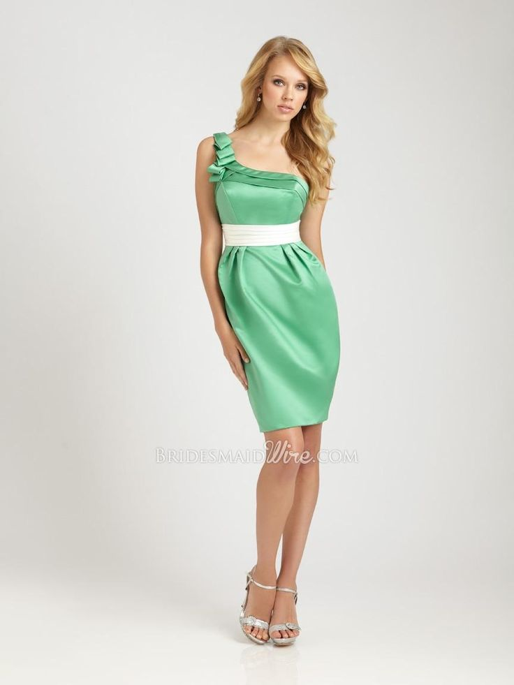 26 best Green bridesmaid dresses images on Pinterest | Taffeta ...