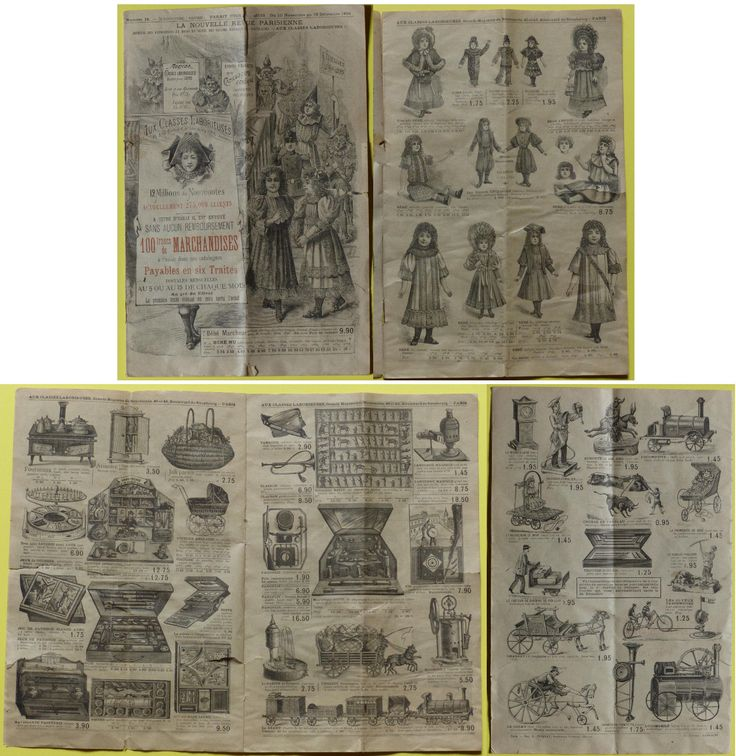 Catalogue - Aux Classes Laborieuses 1894 - Jouets & Poupées Anciens in Jouets et jeux, Poupées, vêtements, access., Poupées anciennes | eBay