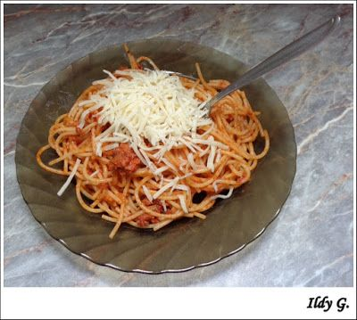 Ildy G. - gasztro és kreatív blogja: Löncshúsos spagetti