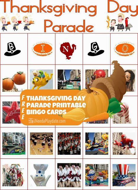 Make the Parade More Interesting: Play Thanksgiving Day Parade Bingo