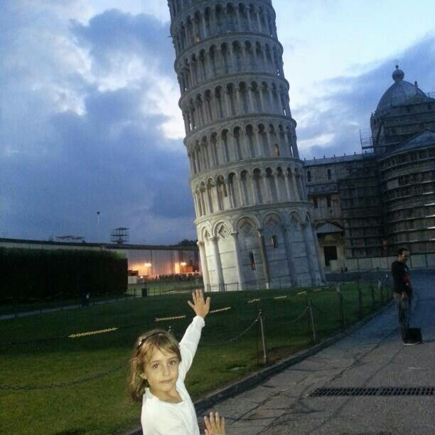 La torre inclinada de Pisa, Florencia. Italia