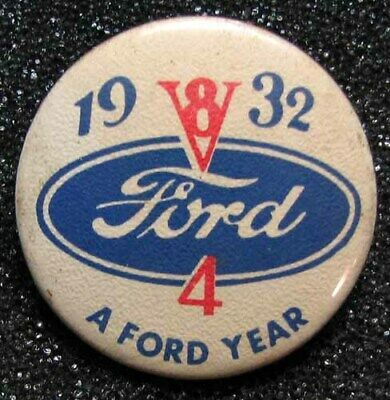 Nos 1932 Ford V8 Advertising Button Or Pin Rare Large Type Very Nice L K G392 In 2020 Advertising Buttons 1932 Ford Ford