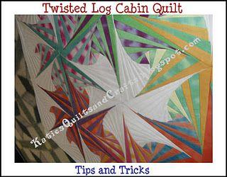 Twisted Log Cabin -Quilt Tutorial by KatiesQuiltsandCrafts.blogspot.com