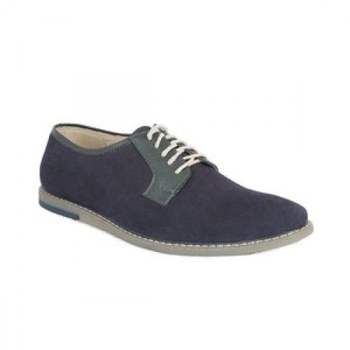 Мужские туфли без каблука синие 685грн