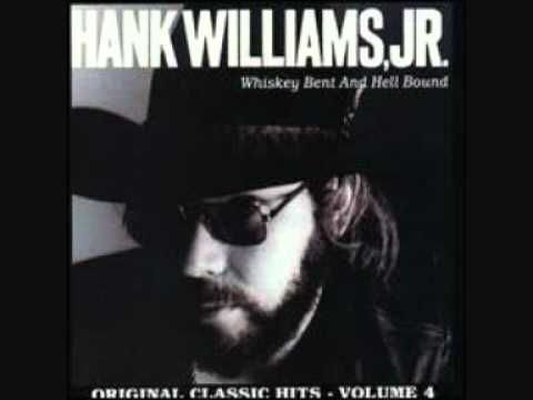 """Hank Williams, Jr. - Outlaw Women ~ Just somethin' about this song...generally not a """"country fan"""" per se, unless it's OLD country (Cash, Jennings, Williams I-III, Cline, Lynn, Haggard, etc.), such as this.  Dig it."""
