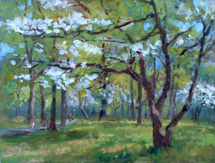 Acrylic Plein Air Landscape Painting Lillian Kennedy