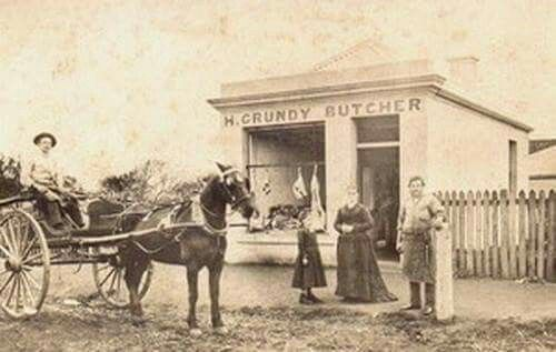 History Koroit H Grundy Butcher Koroit Victoria Australia