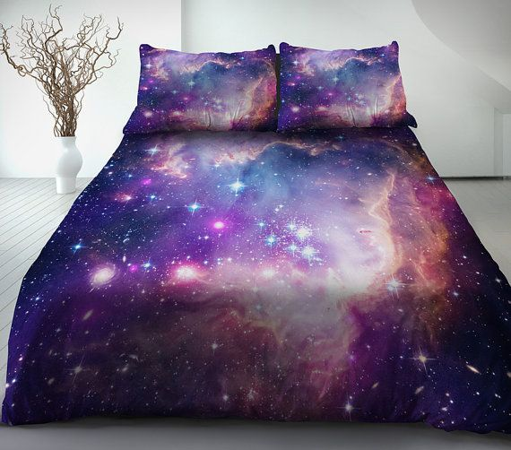 Purple galaxy bedding set of 4 pieces purple single/twin/twin xl/full/double/queen/king bedding set