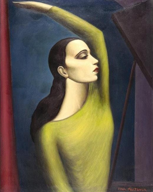 'Martha Graham' (c.1930s) by American painter Paul Raphael Meltsner (1905-1966). via It's about time