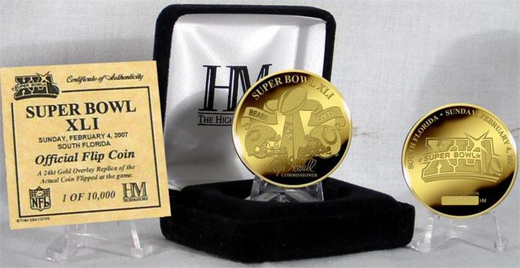 Must have product now available: Indianapolis Colt... Get it here! http://www.757sc.com/products/indianapolis-colts-v-chicago-bears-24kt-gold-super-bowl-xli-flip-coin-hm?utm_campaign=social_autopilot&utm_source=pin&utm_medium=pin