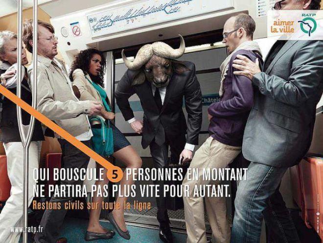 RATP Campagne de lutte contre l'incivilité dans les transports en commun - Publicis Conseil 2/5