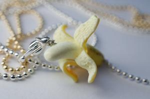 Banana Necklace Miniature Food Jewelry...lol @Danielle Leone !