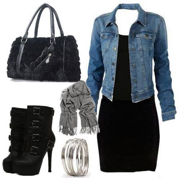 robe veste jean swag tenue chic mode pinterest. Black Bedroom Furniture Sets. Home Design Ideas