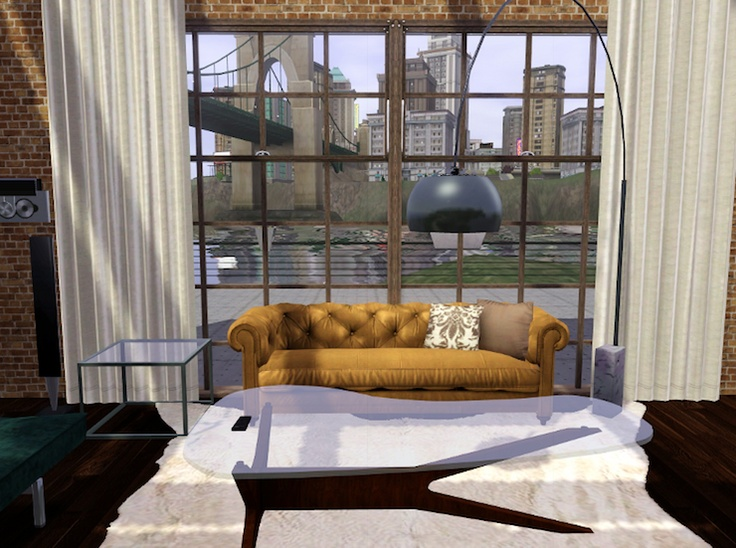Living Room The Sims 3 First Of All It Looks Like A Real Space Fantastic Modern Views Are Beautifully Framed In Windows And Make Terr