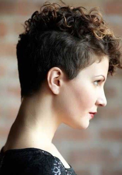 Mohawk Inspired Pixie Cut-Short Haircuts for Curly Hair