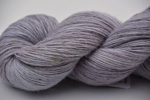 Lacegarn Knitted Yarn Light Gray Grey Yarn Lace Wool Silk