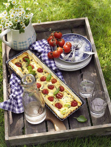 Fresh Tomaten Bl tterteig Tarte Rezept auf wohnen und garten de