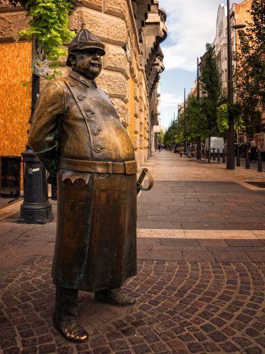 Budapest street sculpture