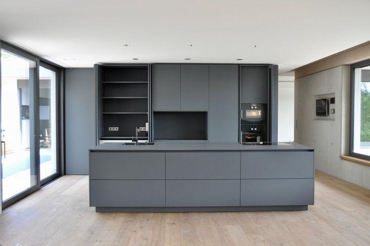 Die besten 25+ Moderne graue Küche Ideen auf Pinterest moderne - matt schwarze kchen