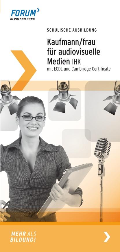 Macht eine schulische Ausbildung in Berlin zum/r Kaufmann/Kauffrau für audiovisuelle Medien! Alle Infos findet Ihr hier: http://www.forum-berufsbildung.de/Ausbildung-schulisch.1112.0.html