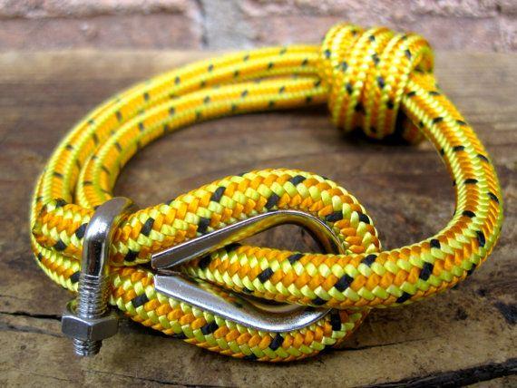 Nautical Bracelet (Double Wrap) with Rope Thimble